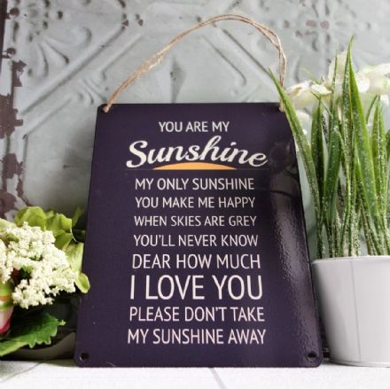 50% OFF You are my Sunshine vintage metal sign